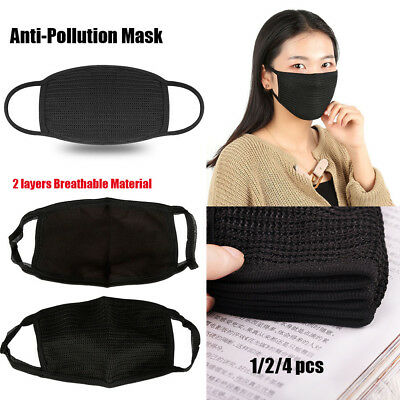 Black Fashion Unisex Health Cycling Anti-Dust Cotton Mouth Face Mask Respirator-