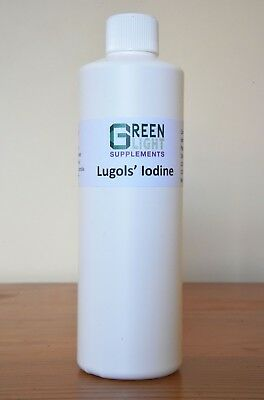 Lugol's Iodine 500mls+dropper- GREEN LIGHT SUPPLEMENTS. 10% OFF