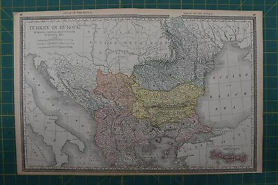 Turkey Vintage Original 1892 Rand McNally World Atlas Map Lot