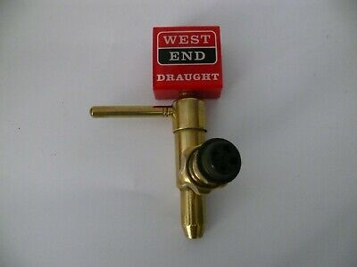 Vintage West End Draught Beer Top With Brass Tap