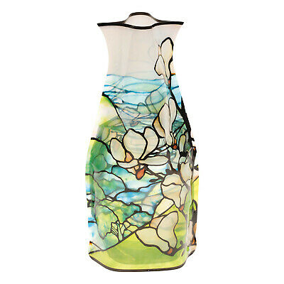Modgy Magnolias Vase - Plastic Tiffany Stained Glass Design -BPA-Free