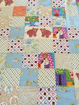 "Handmade patchwork quilt 47"" X 50"" Babies With Appliqué"