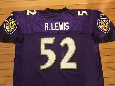 025e021b4cb Vtg Reebok Baltimore Ravens Ray Lewis #52 Jersey Mens Adult 2XL XXL Purple  HOF
