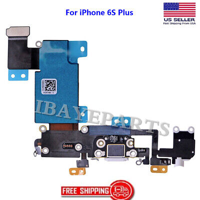 For iPhone 6s Plus Charging Port Flex Cable USB Dock Mic Replacement White