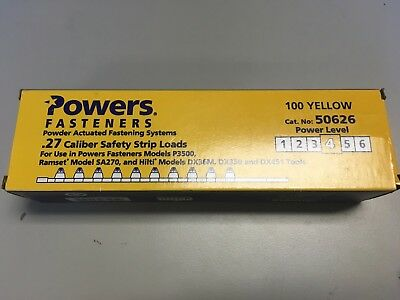 Powers Fasteners .27 Caliber Safety Strip Loads Power Level 4