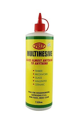 Prep Glue Multi Use Multihesive 1 litre styrene based dries clear for mosaic