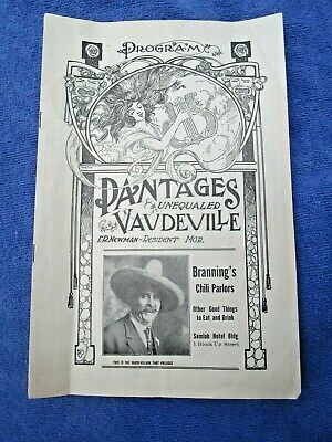1916 Antique Vaudeville Theater Program - PANTAGES THEATRE, SALT LAKE CITY, UTAH