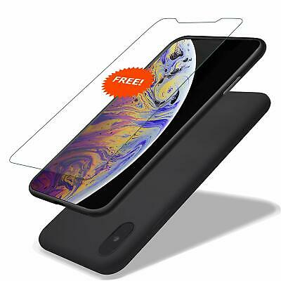 iPhone Xs Max Silicone Case, Ultra Thin Liquid Gel Rubber Case Hybrid Protection