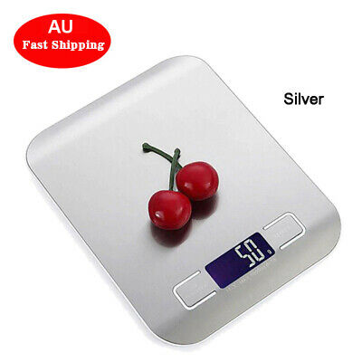 AU Stainless Steel Digital LCD Electronic Kitchen Cooking Food Weighing Scales