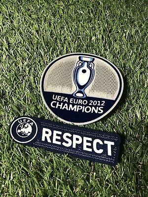 Fussball Patch Set Euro Champion 2012 Spanien EM 2012 Euro Spain Jersey