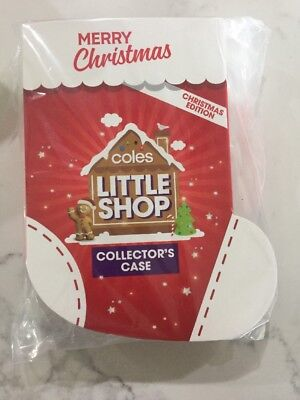 Coles Little Shop Mini Collectables -Christmas Edition -Case And FULL SET Minis