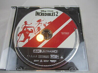 Incredibles 2 (4K Ultra HD Blu-ray, 2018) Disney Pixar Disc only NO cover Art
