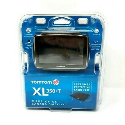 NEW TOMTOM XL 350T Car GPS Set USA/Canada/Mexico Maps LIFETIME