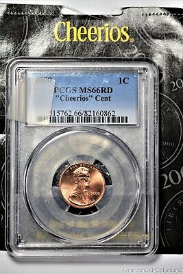 """2000 Lincoln Cent PCGS MS66RD """"Cheerios"""" Cent .01c 1C 1c LOOK  13916"""