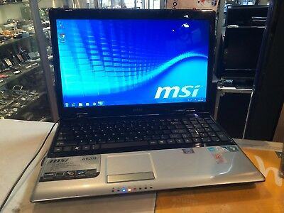 Msi (Ms-1681) Laptop Windows 7 / 500 Gb Hdd / 4Gb Ram - Faulty Battery