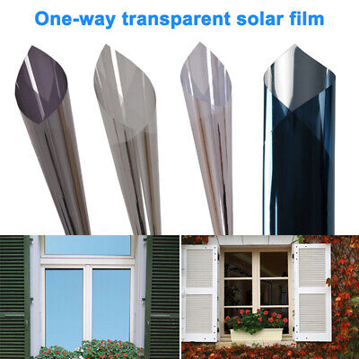 Glasfolie One Way Solar Reflective Mirror Privacy Window Film Stop Heat Sticker 500x60cm