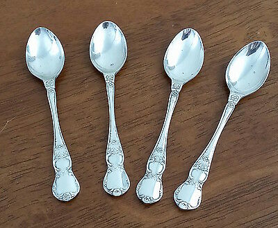 Vintage Set of 4 RODD EPNS Nickel Silver Plate  CAMILLE Small Jam Sugar SPOONS