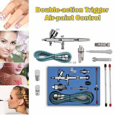 SP180K 0.2mm/0.3mm/0.5mm Professional Double-action Trigger Control Airbrush Kit