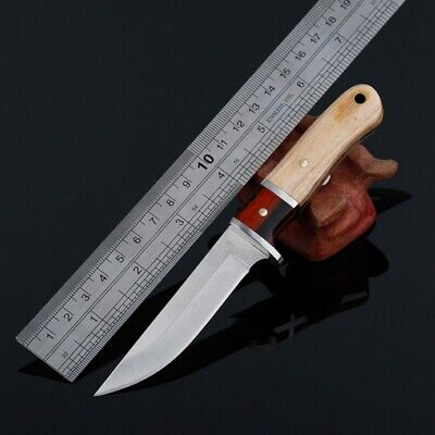 K89 Straight Knife EDC Tool  Outdoor Survival Knife Tactical Army Knife w/Cover