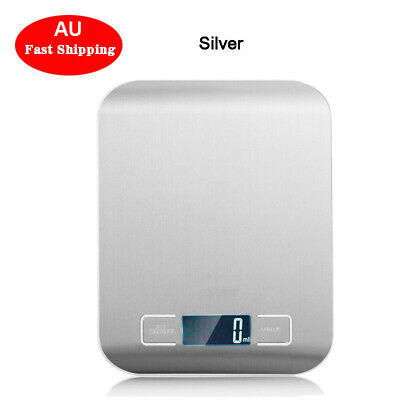 5000g /5kg Digital LCD Electronic Kitchen Cooking Food Weighing Scales AU Ship