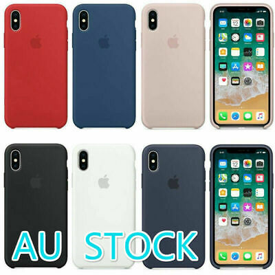 Genuine Original Ultra Thin Silicone Case Cover For Apple iPhone X 8 7 PLUS
