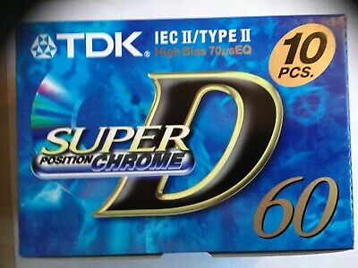Tdk Super D 60 Chrome Box Of 100 Pieces Factory Sealed