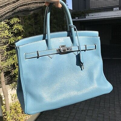 73c487ab765 HERMES BIRKIN BLUE jean JPG 42 cm Good condition -  3