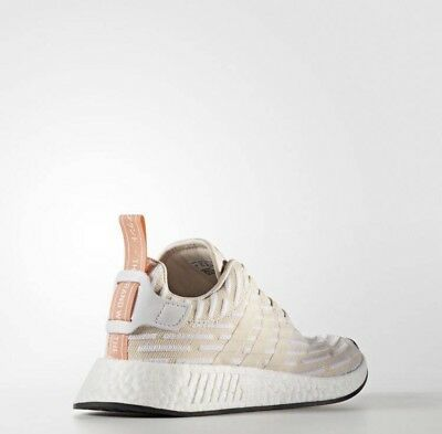 a1ef55a6e Womens Adidas NMD R2 Nomad BA7260 Linen white beige boost NEW running  sneakers