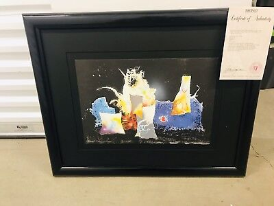 Laszlo Dus Lithograph Limited Edition Signed Artist Proof Framed Pencil Art