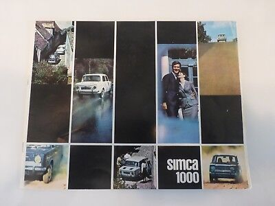 SIMCA 1000 PUB Catalogue 1964 8 pages couleurs 21X27