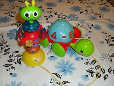 Fisher Price pull along turtle & Lamaze activity toy in VGC babies toys