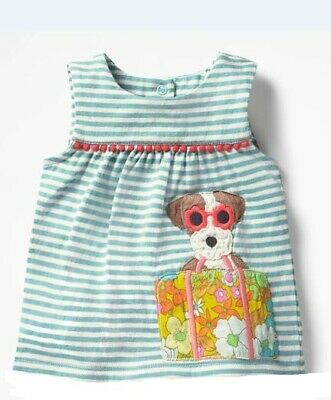Ex Baby Boden Girls Dog Holiday Sunglasses Stripe Sleeveless Top 6 12 18 Months
