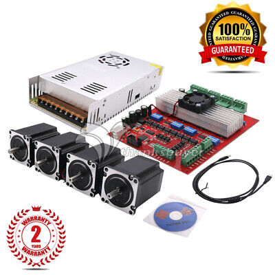 MACH3 CNC 4-Axis Kit TB6560 Stepper Motor Controller+4pc Nema23 Stepper Motor 57
