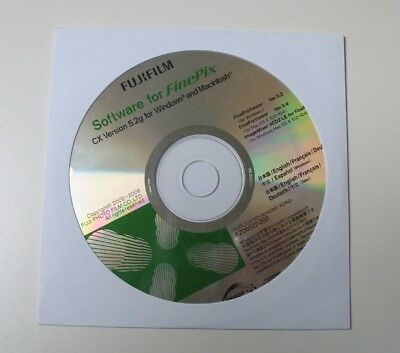Genuine New Fujifilm Software Cd For Finepix Cx Version 5.2 For Windows & Mac