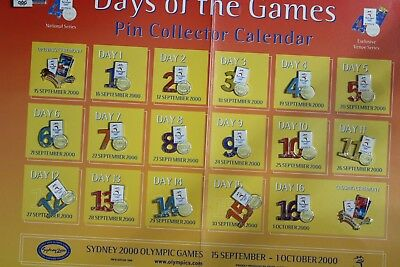 SYDNEY 2000 OLYMPIC Days Of The Games Pin Collector Calendar 19 pins (3263134M8)