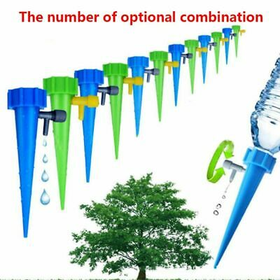 6x Automatic Garden Cone Bottle Irrigation Watering Spike Plant Flower Waterers
