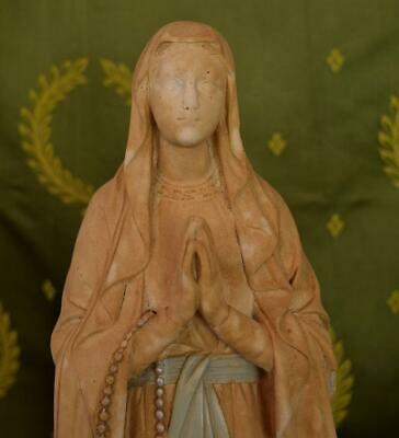 Stunning Tall Antique French Plaster Religious Statue / Bust, Mary C1900 - B942