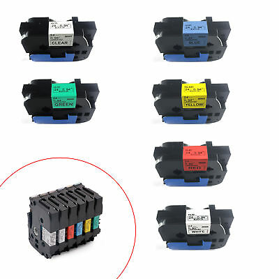 Compatible For (Brothe) P-Touch Tze Tz Labels Tape 6mm/9mm/12mm/18mm/24mm