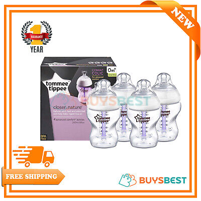 Tommee Tippee Baby Bottles Advanced Comfort Vented Anti colic Bottle 260ml 4pack