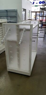 Used second hand retail H gondola with accessories shelf shelves hanging shop