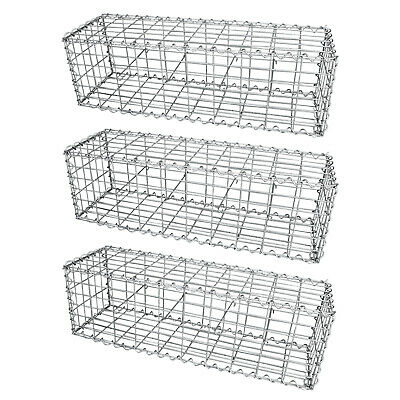 Gabion Baskets Garden Mesh Outdoor Patio Cages Wire Stone Wall Planter Border