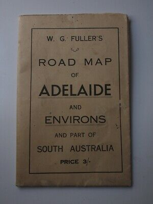 W.G Fullers Road Map of Adelaide and Environs. 1930-40's