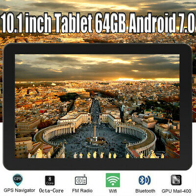 10.1 inch Tablet PC 32GB Quad-core Android 6.0 WIFI GPS Dual Camera Bluetooth UK