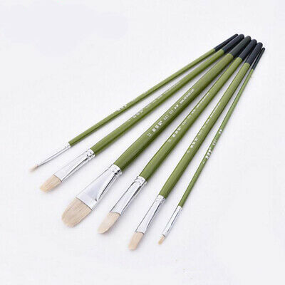 6pcs /set Paint Brush Oil Watercolor Acrylic Art Craft Artist Painting Brush N7