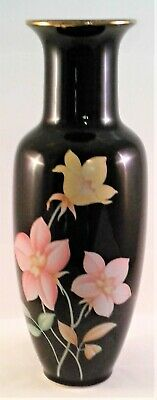 Vintage Antique Japanese porcelain vase black vase