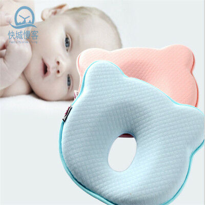 Baby Newborn Infant Pillow Memory Foam Positioner Prevent Flat Head Anti Roll LH