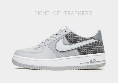 Trainers Air White Sizes Boys Nike 1 Grey Low All Force Black Girls Kids FclK1JT