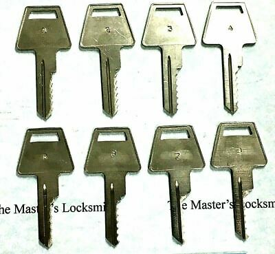 American Padlock Space & Depth Keys 6 Cut Blanks HPC C30 Code Card A1045L