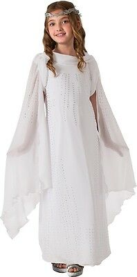 Child Movie LOTR Lord of the Rings The Hobbit Galadriel Deluxe Elf Dress Costume
