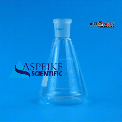 250ml,Glass Erlenmeyer Flask,Groud Joints 24/40,Laboratory Triangle flasks A